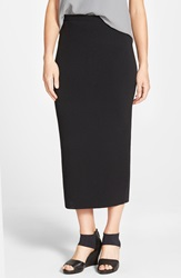 Eileen Fisher Midi Length Wool Knit Pencil Skirt Regular And Petite Black