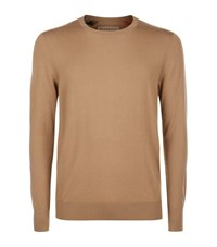 Burberry Check Detail Cashmere Sweater Male Brown