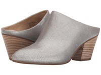 Seychelles Got The Answer Silver Metallic Suede Women's Clog Shoes