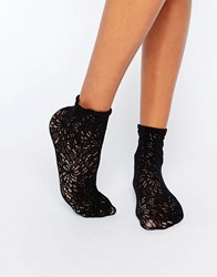 Wolford Lace Socks Black