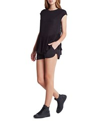 Bcbgeneration Gathered Dolphin Hem Shorts Black