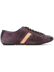 Louis Vuitton Vintage Logo Stripe Sneakers Pink And Purple