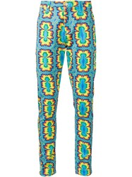 Jeremy Scott Psychedelic Print Trousers Blue