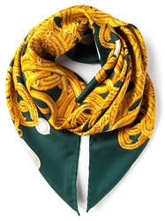 Chanel Vintage Linked Jewelry Print Scarf
