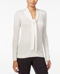 Maison Jules Tie Neck Sweater Only At Macy's Egret