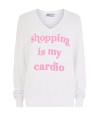 Wildfox Couture Shopping Is Cardio Baggy Beach Sweater White