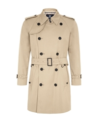Aquascutum London Corby Double Breasted Raincoat Camel