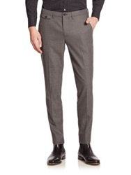 J. Lindeberg Flat Front Dress Pants Mid Grey