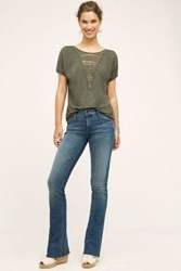 Anthropologie Mother Runaway Fray Jeans Fingerprints And Muddy Feet 24 Pants