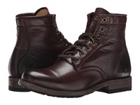 Frye Tyler Lace Up Dark Brown Soft Vintage Leather Women's Lace Up Boots