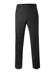 Howick Fine Herringbone Formal Trouser Charcoal