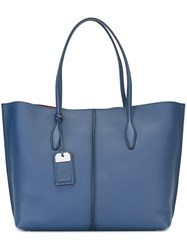Tod's Tag Detail Tote Blue