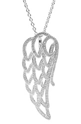 Pandora Design 'Angel Wing' Pendant Necklace Silver Clear