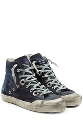 Golden Goose Francy Canvas And Suede High Top Sneakers Multicolor