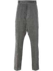 Rick Owens Velvet Trousers Grey
