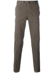 Pt01 Stretch Tapered Trousers Grey