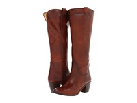 Frye Jackie Tall Riding Redwood Soft Vintage Leather Cowboy Boots Tan
