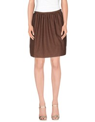 Douuod Skirts Knee Length Skirts Women Khaki