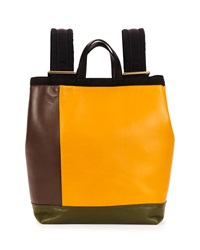 Marni Colorblock Leather Parachute Backpack