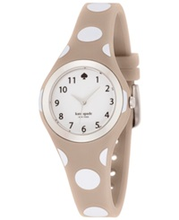 Kate Spade New York Women's Rumsey White And Gray Polka Dot Silicone Strap Watch 30Mm 1Yru0836