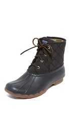 Sperry Saltwater Quilted Nylon Booties Black