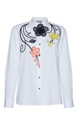 Gem Dirce Organza Flowers Shirt White