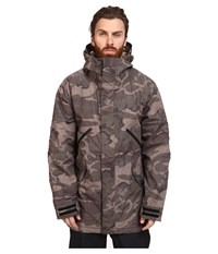 Burton Breach Jacket 15 Black Camo Kelp Men's Coat Brown