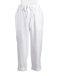 Jones New York Plus Plus Linen Capri Pants White