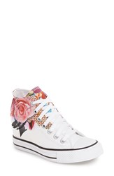 Converse Women's Chuck Taylor All Star 'Digital Floral Lux' High Top Sneaker White Pink Black