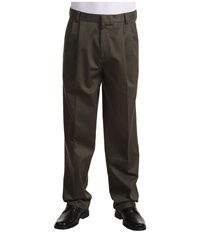 Dockers Signature Khaki D3 Classic Fit Pleated Dark Olive Men's Casual Pants
