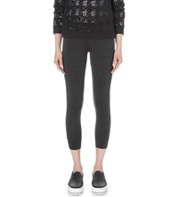 Brunello Cucinelli Cropped Stretch Wool Leggings Anthracite