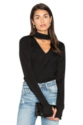 Roi Sexy Jersey Cut Out Tee Black