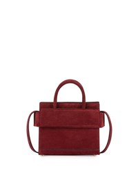 Givenchy Horizon Mini Suede Satchel Bag Wine