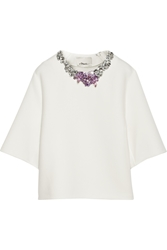 3.1 Phillip Lim Crystal Embellished Tech Jersey Top