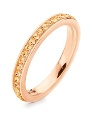 Folli Follie Match And Dazzle 2 Thin Ring Rose Gold