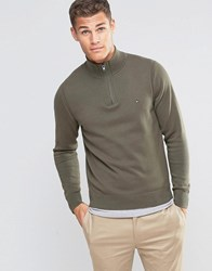 Tommy Hilfiger Jumper With 1 2 Zip In Green 08578A1644