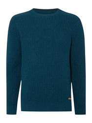 Army And Navy Plain Crew Neck Pull Over Jumpers Petrol