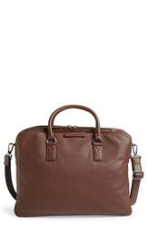 Marc By Marc Jacobs 'Classic' Leather Briefcase Brownie