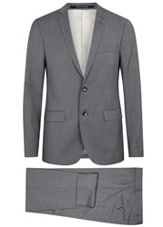 Tiger Of Sweden Harrie Super 100'S Slim Fit Wool Suit Grey