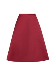 Rochas Duchess Satin Midi Skirt