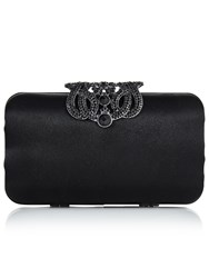 Jacques Vert Filigree Clutch Bag Black