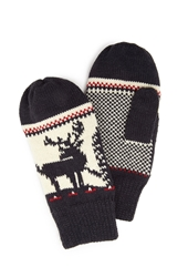 Forever 21 Patterned Knit Mittens