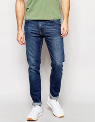 Weekday Jeans Friday Skinny Fit Francis Blue Dark Wash Blue