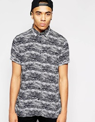 New Look Short Sleeve Shirt With Rolled Sleeve Black