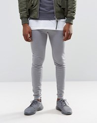 Asos Super Skinny Joggers With Logo Elephant Gray