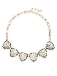 Saks Fifth Avenue Patterned Necklace Gold