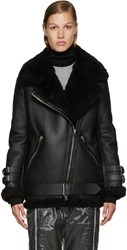 Acne Studios Black Shearling Velocite Jacket
