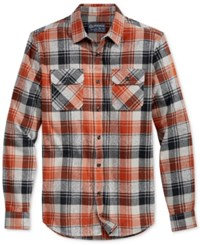 American Rag Ruby Flannel Shirt Only At Macy's Brown Quartz