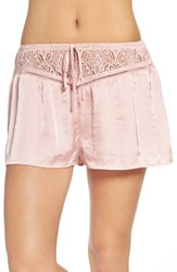 Band Of Gypsies Women's Lace Waist Satin Shorts
