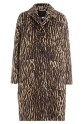 Rochas Animal Print Coat With Virgin Wool And Alpaca Animal Prints